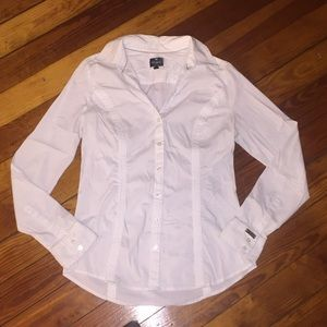 EXPRESS size S white button up shirt